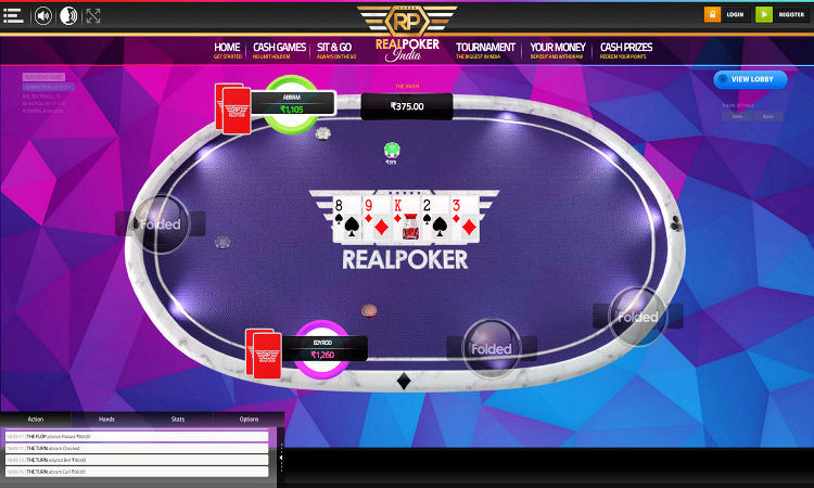 play online poker at Real Poker